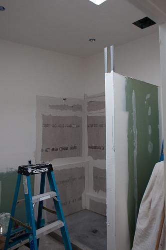 shower hardibacker | by Design Nomad