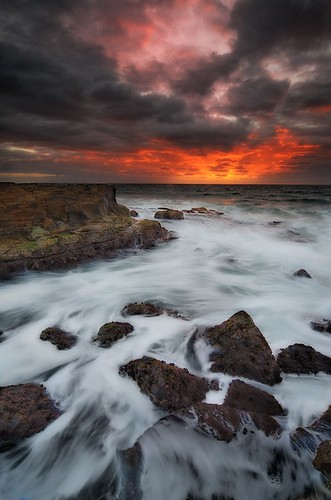 seascape sunrise rocks filter lee centralcoast gerry avoca gnd