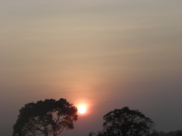 Sunset near Angkor Wat, Cambodia