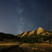 Milky Way and the Flatirons