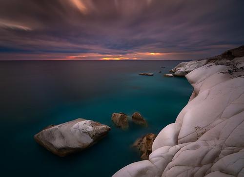 longexposure sunset sea sky cliff clouds nikon rocks cyprus cliffs limassol ndfilter agiosgeorgios d700 bigstopper alamanos
