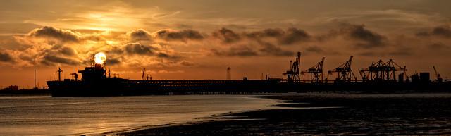 Saltend Jetty Sunset