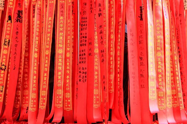 Blessings - Chinese Temple, Chinatown, Yokohama