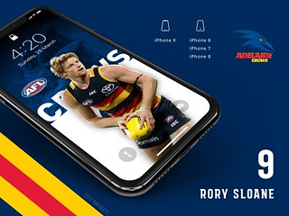 #9 Rory Sloane (Adelaide Crows) iPhone Wallpapers | by Rob Masefield (masey.co)