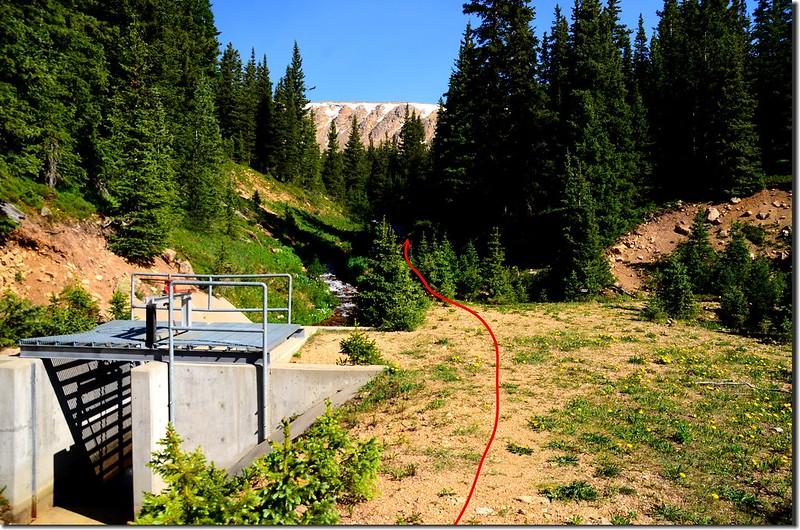 Berthoud Pass Ditch Road & Current Creek junction