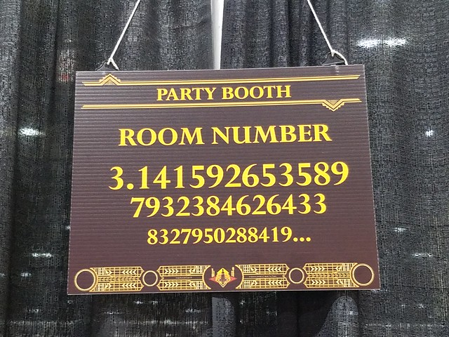 Pi Party Booth from MidAmeriCon II