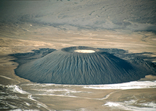 ...the baby volcano on the ground of the caldera... probably one of the most spectacular views of the sahara...