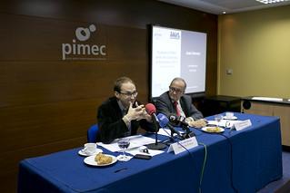 Dins les Trobades PIMEC, amb els candidats dels partits polítics a les eleccions del Parlament de Catalunya.  8 de novembre del 2012.