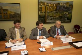 Dins les Trobades PIMEC, amb els candidats dels partits polítics a les eleccions del Parlament de Catalunya.  7 de novembre del 2012.
