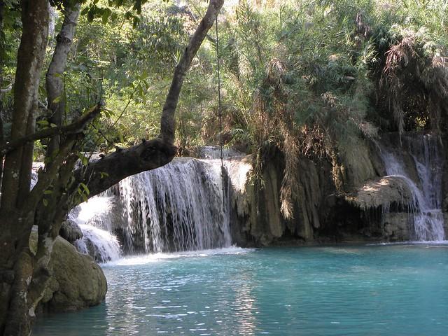 A waterfall in northern Laos