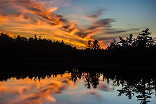 sunset lake canada water reflections novascotia mtuniacke