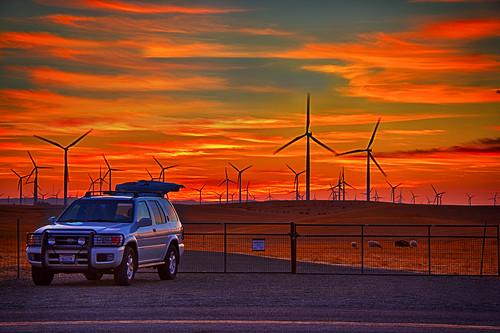 sunset delta windmills fullmoon hdr n6oim birdslandingca 20120929 pjm1 20121120 pedromarenco