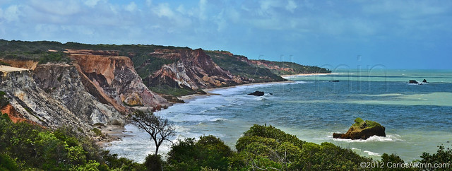 Falésias da Praia de Tambaba - Paraíba, Brasil