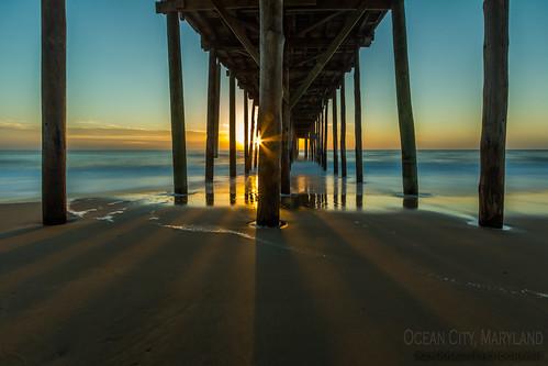 ocean sunset beach sunrise pier maryland oceancity oceancityfishingpier