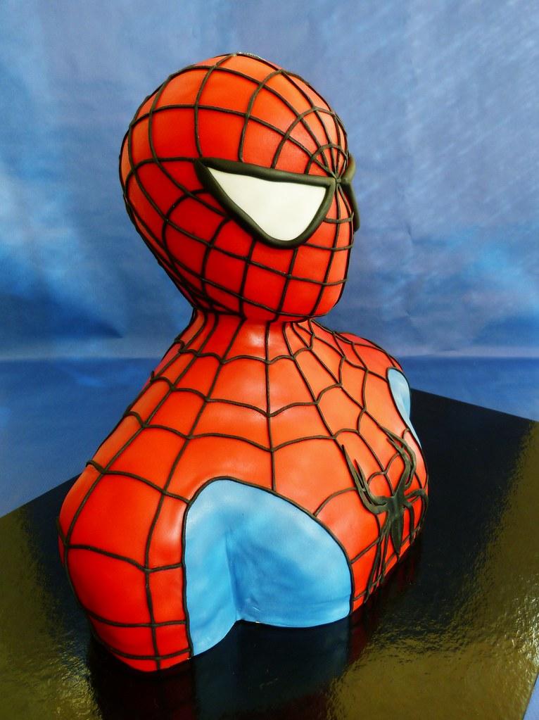 Spider man 3D sculpted cake | Margarida Abecassis | Flickr