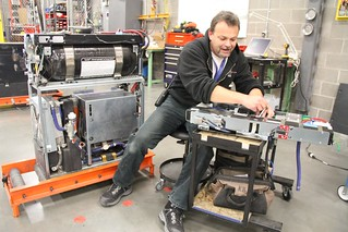 Hydrogen fuel cell units being maintained at the Walmart-SCM Balzac distribution centre3