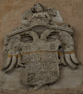Granada. La Alhambra. Palacio de Carlos I. escudo de carlos I
