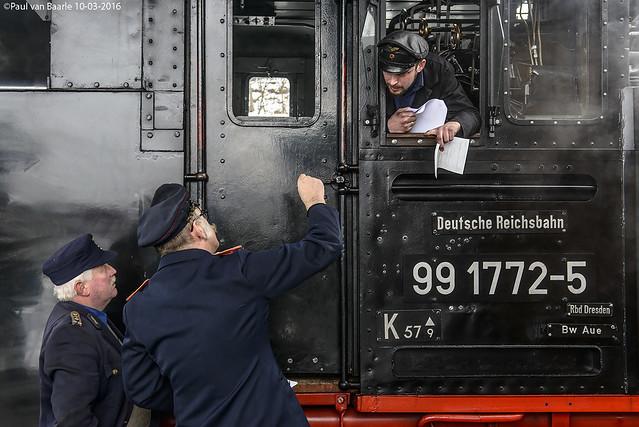 Fichtelbergbahn (1) DR 99 1772-5, 10-03-2016