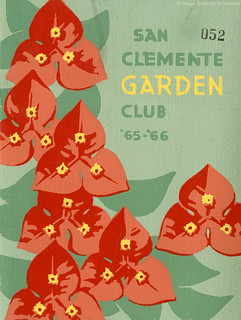 San Clemente Garden Club 1965-66 year book (cover)