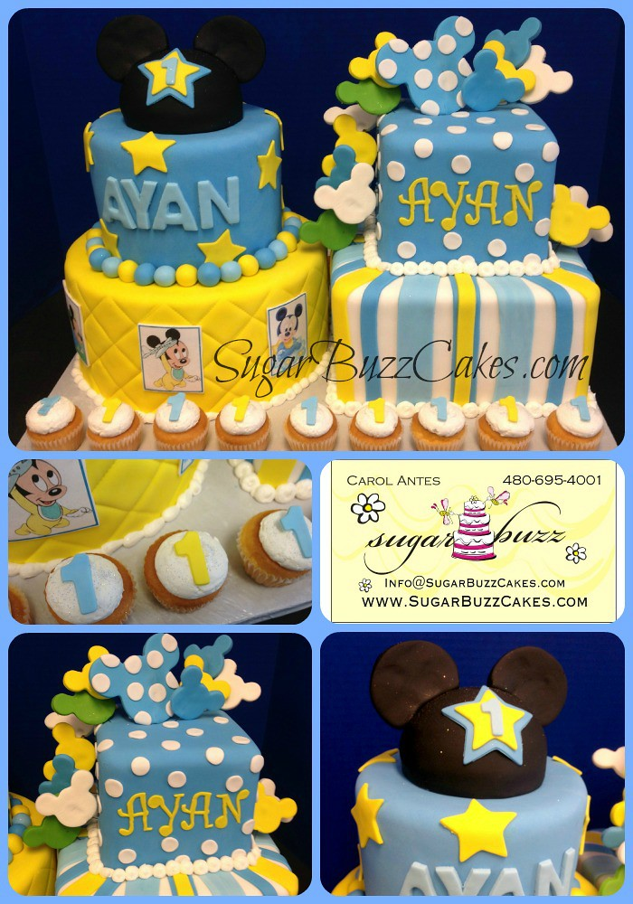 Amazing Baby Mickey Birthday Cake A Photo On Flickriver Funny Birthday Cards Online Alyptdamsfinfo