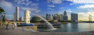 The Merlion of Singapore. In many ways we owe it to her...   by williamcho