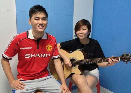 Beginner guitar lessons Singapore Esther