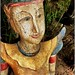 WeGoTwo posted a photo:	A small wooden statue that was hidden on the side of a pathway.  You certainly have to pay attention - they are everywhere.