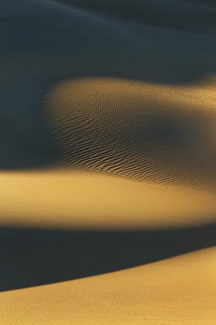 Golden Shadows-----Death Valley Sand Dunes