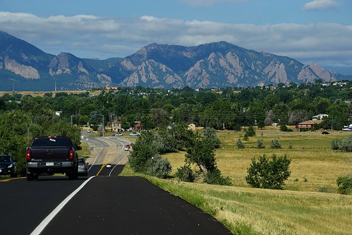flatirons road mountains boulder louisville co colorado valley mountain landscape geology freshasphault whiteline