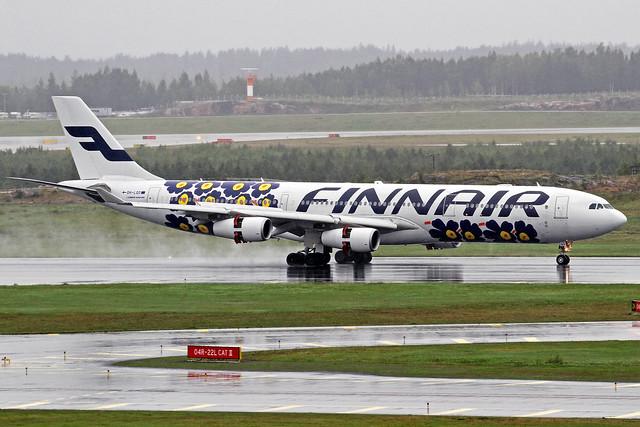 Finnair Airbus A340-313E OH-LQD HEL 29-08-16  (14.000th photo)