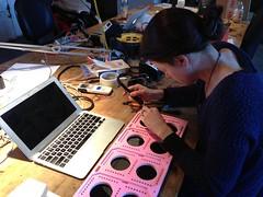 XXXL seven segment display soldering