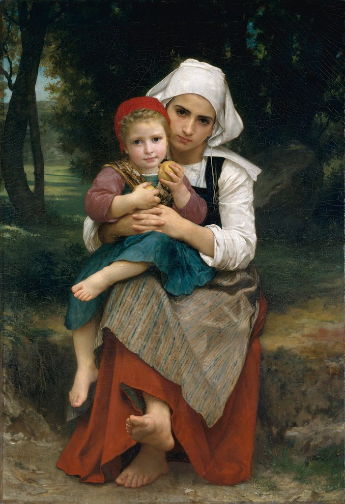 William Bouguereau - Breton Brother and Sister [1871]