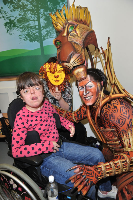 Cast Of The Lion King Bring Musical Wonder To GOSH Patient