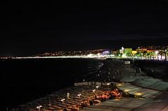 Ницца - пляж ночью