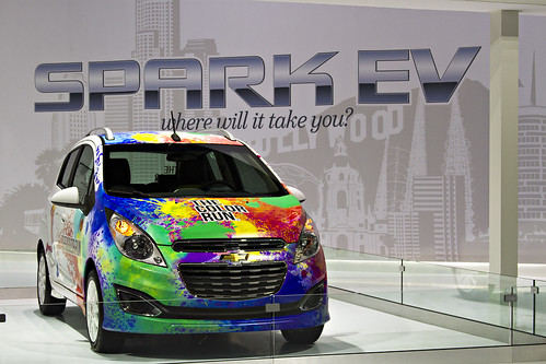 Chevy Spark EV - The Color Run - Los Angeles Auto Show Photo