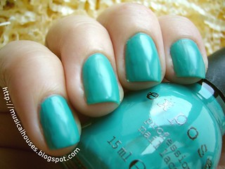 exposed nail polish aqua baby | by musicalhouses