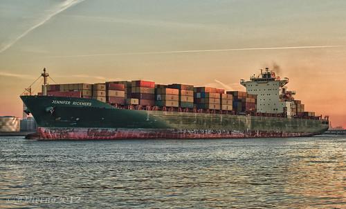city nyc sea sky ny newyork color water sunrise canon 50mm harbor boat marine ship container addicted sailor statenisland hdr kvk killvankull hcsm 60d hdrextremes