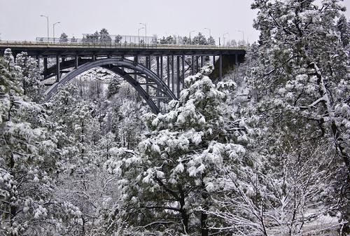 Omega Bridge after snow fall