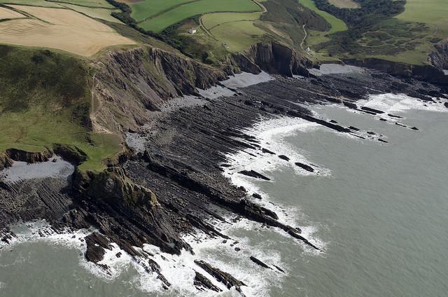 Blegberry Beach in North Devon - aerial image