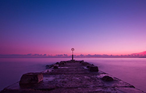 uk longexposure sunset sea england sky seascape beach water canon coast tokina explore dorset gb groyne bournemouth breakwater uwa explored tidebreak canon7d tokinaatxprodxaf1116mm