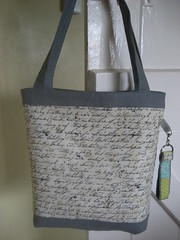 Mouthy stitches tote - reverse side