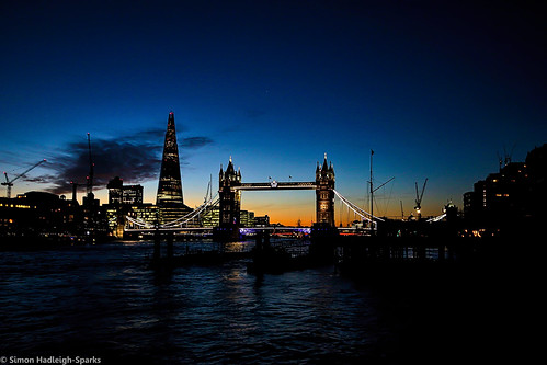 Sunset On The Towers London City Skyline by Simon & His Camera | by Simon Hadleigh-Sparks