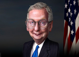 Mitch McConnell - Caricature | by DonkeyHotey