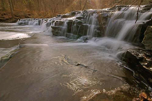 waterfall sunbeams intothesun corbettsglen allenscreek postcardfalls