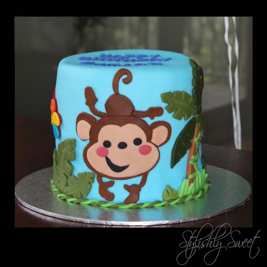Miraculous Cheeky Monkey 1St Birthday Cake Jungle Baby Themed Birthda Flickr Personalised Birthday Cards Petedlily Jamesorg