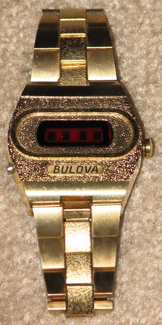 Vintage Bulova Men's Digital LED Watch Cal 2281 from the 1970s