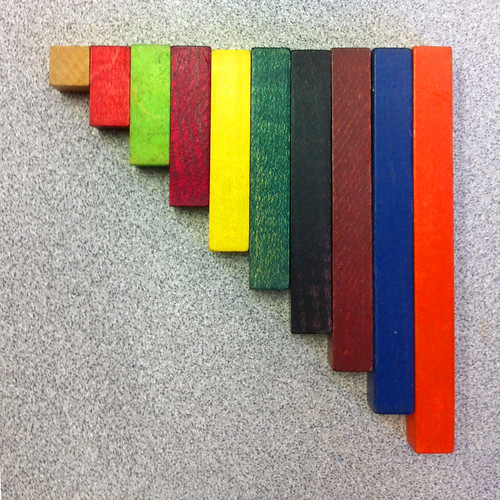 colored number sticks   by otherthings
