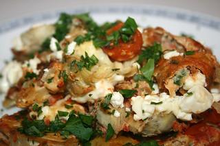 36 - Rührei mit Artischockenherzen & Kirschtomaten / Eggs with artichoke heart & cherry tomatoes - CloseUp | by JaBB