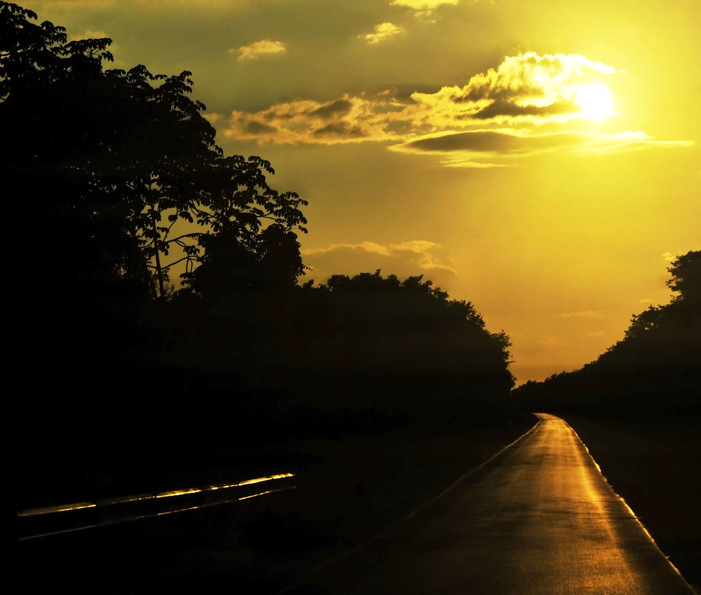 Sunset on the road!