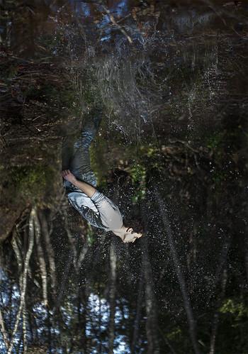 portrait selfportrait water canon photography 50mm upsidedown down upside 2012 treading 550d treadingwater
